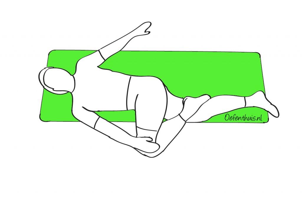 rug mobiliseren in rotatie in ruglig bij rugklachten