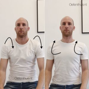 schouders roteren oefening