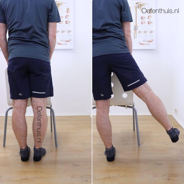 Oefening been zijwaarts bewegen na nieuwe heup operatie