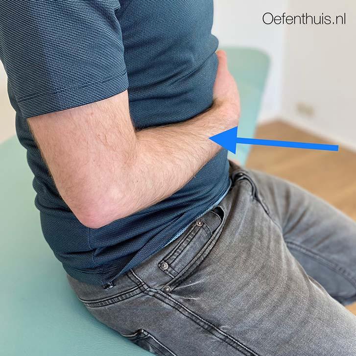adductie arm na schouderluxatie oefening