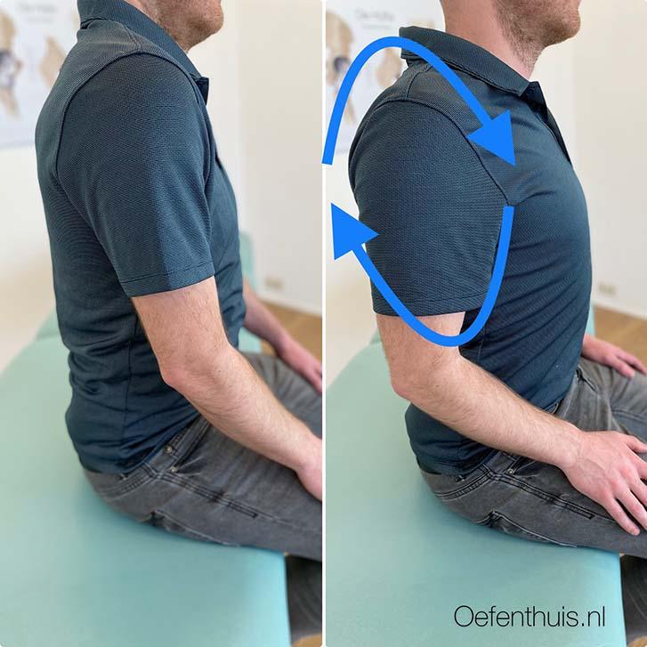 schouderluxatie rondjes draaien schouder