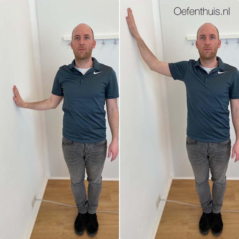 schouderluxatie wallslide zijwaarts oefening