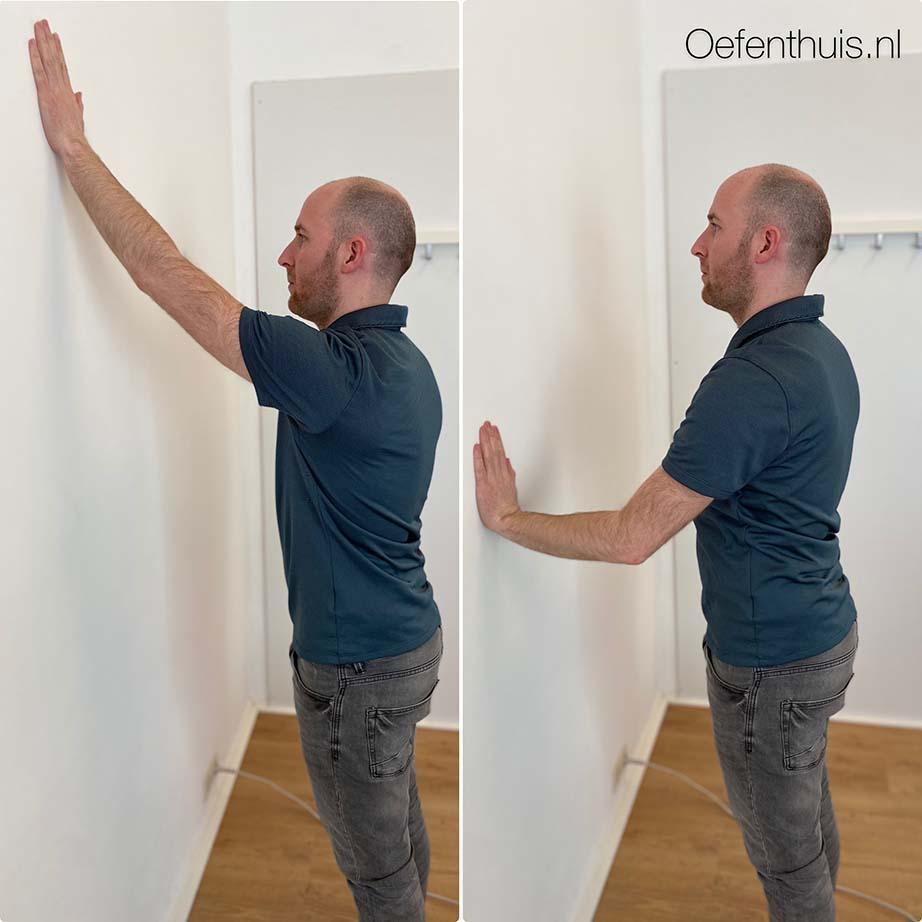 schouderluxatie wallslide front oefening