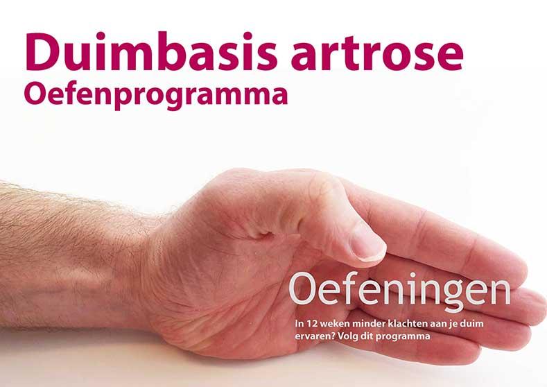 Duimbasis artrose oefenprogramma