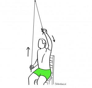 isometrische oefening elleboog